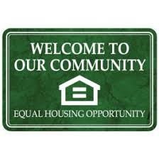 Interior Sign Free Shipping Welcome To Our Community Equal Housing Opportunity Plastic Sign Marble Post Fair Housing And Equal Housing Opportunity Signs Throughout Your Leasing Office And In All Model Apartments Acrylic Signs Have Two Strips