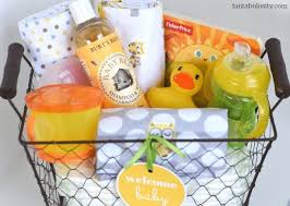 diy new baby gift basket idea and free