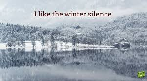 i like the winter silence winter quote on nature landscape image