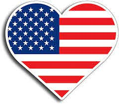 Amazon Com Heart American Flag Sticker Decal Us Flag For Cars Trucks American Usa Honoring Police Law Enforcement On 3m Hd Vinyl Window Bumper Everything Else
