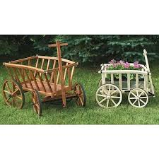 small amish made wooden goat wagons