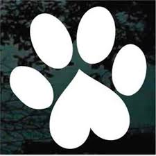 Dog Paw Prints Car Decals Stickers Decal Junky