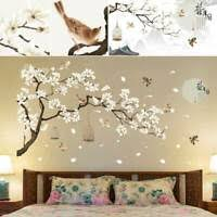 White Blossom Tree Branch Wall Art Stickers Cherry Blossom Decals Mural Decor For Sale Online