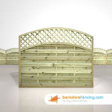 Convex Arched Lattice Top Fence Panels 5ft X 6ft Natural