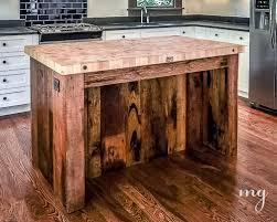 kitchen island reclaimed wood pallets