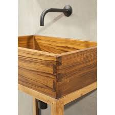 washbasin sink teak wood vanity