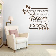 Wake Up With A Purpose Wall Decal Bedroom Family Living Room Wall Sticker Ebay