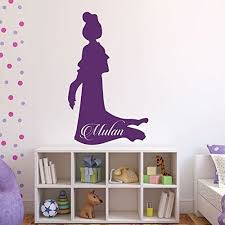 Amazon Com Mulan Wall Decal Personalized Princesses Vinyl Stickers Baby Girl Nursery Girl S Room Decor Princess Birthday Party Handmade