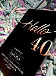 20 Invitacion Para Cumpleanos De 40 Anos 480 00 En Mercado Libre