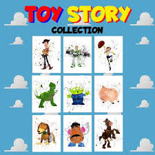 Toy Story Collection Poster Set Kids Room Living Room Wall Etsy