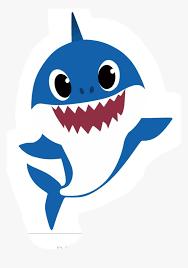 Transparent Shark Clip Art - Blue Baby Shark Clipart, HD Png ...