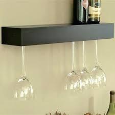 wine glass rack shelf wall mounted