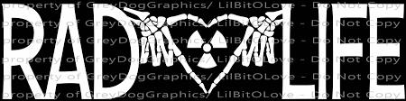 Rad Life Vinyl Decal Rad Tech Radiology Xray By Lilbitolove On Zibbet