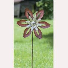 metal pinwheel decorative garden stakes