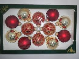 white icicles nib 4 krebs glass ornaments