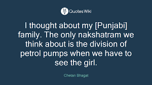 i thought about my punjabi family the only n