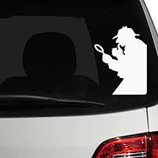 Amazon Com The Decal Guru 0093 Car 01 W White 7 H X 5 W Car Window Decal Sticker Automotive