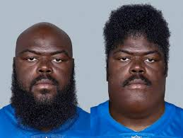 I have way too much time on my hands. Saw the pic of A'shawn Robinson and  wondered what he would look like if his head was on his chin and his beard