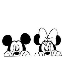 Peeking Mickey And Minnie Mouse Set Disney Vinyl Decal Car Window 75055 For Sale Online Ebay In 2020 Mickey Mouse Drawings Minnie Mouse Drawing Disney Silhouettes