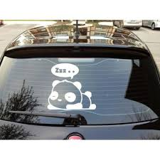 Zzzz Sleeping Panda Thought Bubble Animal Automobile Car Window Dec Mymonkeysticker Com
