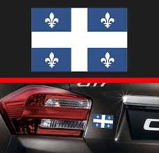 4 Quebec Province Flag Vinyl Decal Bumper Sticker Qc Canada Macbook Car Sticker Ebay