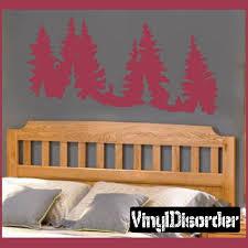 Landscape Tree Line Wall Decal Vinyl Decal Car Decal Ns014 Horse Wall Decals Vinyl Wall Decals Car Decals Vinyl