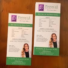 "Travis Farley Design on Twitter: ""Rack Card design for Pinnacle Dermatology  featuring Hilary Dean, FNP-C, APRN, MSN in Charleston and Lewisburg, WV.… """