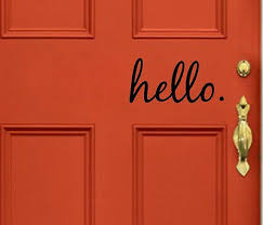 Hello Wall Vinyl Decal Sticker Family Kids Room Door Lettering Welcome Home Ebay