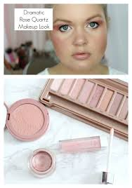 dramatic rose quartz makeup look