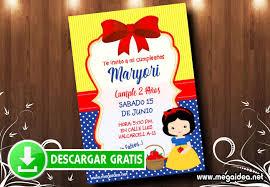 Invitaciones De Blanca Nieve Baby Mega Idea