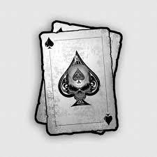 Decal Ace Of Spades Skull Biker Window Motorcycle Truck Poker Dead Card Sticker 2 99 Picclick