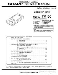SHARP TM100 Service Manual download ...