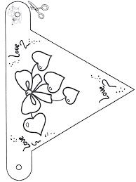 Valentijn Vlaggetje 1 Kleurplaten Valentijnsdag