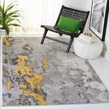 costa mesa gray yellow area rug