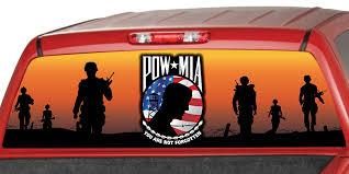 Pow Mia Usa Flag Rear Window Graphic Decal Truck Van Car