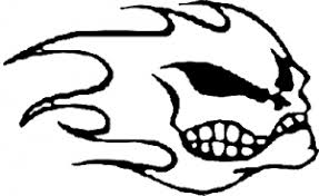Flame Face Car Or Truck Window Decal Sticker Rad Dezigns