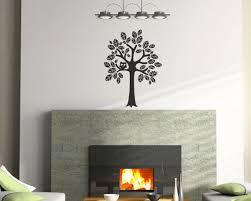 Tree Vinyl Wall Decal Size Small Tree Wall Decal Tree Art Etsy