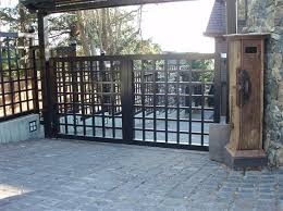 Swing Gates Articulating Arms Harbour Door Fence Design Privacy Fence Designs Trellis Gate