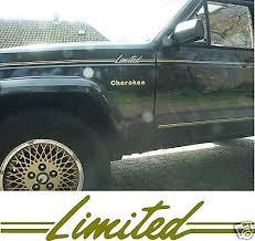 1987 1992 Amc Chrysler Jeep Xj Cherokee Limited Stripe Decal Sticker Package Ebay