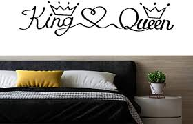 Amazon Com Wall Decals Stickers For Bedroom King Love Queen Crown Removable Vinyl Wall Sticker Home Room Decor Peel Stick Quotes Diy Decor Gifts Kitchen Dining