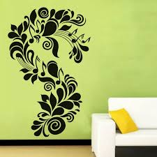 Dctop Creative S Letter Shape Wall Sticker Flower And Musical Notes Art Vinyl Removable Wall Decal Home Decor For Living Room Sticker Border Decorative Vinyl Wall Stickersstickers Ballon Aliexpress