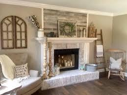wood decorative wall above my fireplace