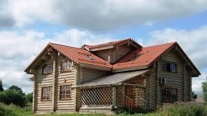 Деревянный дом из оцилиндрованного бревна под ключ - купить по ...