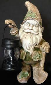 leprechaun garden statue solar the