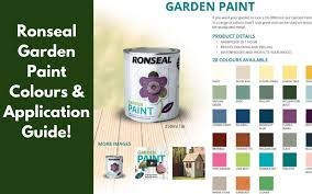 A Review Of The Ronseal Garden Paint Revealing Application Uses