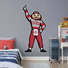 Life Size Ohio State Buckeyes Brutus Buckeye Illustrated Mascot Life Size Officially Licensed Removable Wall Decal Wall Decal Shop Fathead For Ohio State Buckeyes Decor