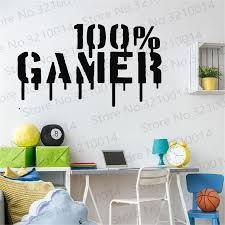 Gamer Wall Decal Video Games Wall Sticker Controller Wall Decal Gaming Room Wall Art Decals Pw224 Wall Stickers Aliexpress