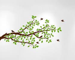 Tree Branches Wall Decal Birds Vinyl Sticker Nursery Leaves 1296 Innovativestencils