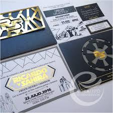 Star Wars Wedding Invitation Invitacion De Boda Star Wars Un Dia Genial Para Siempre Creativorubenchacon Invitati Boda Friki Invitaciones De Boda Boda Lego
