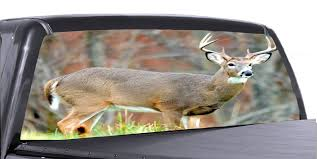 Hunting Scene 2 Universal Truck Rear Window 50 50 Perforated Vinyl Dec Roe Graphics And Apparel
